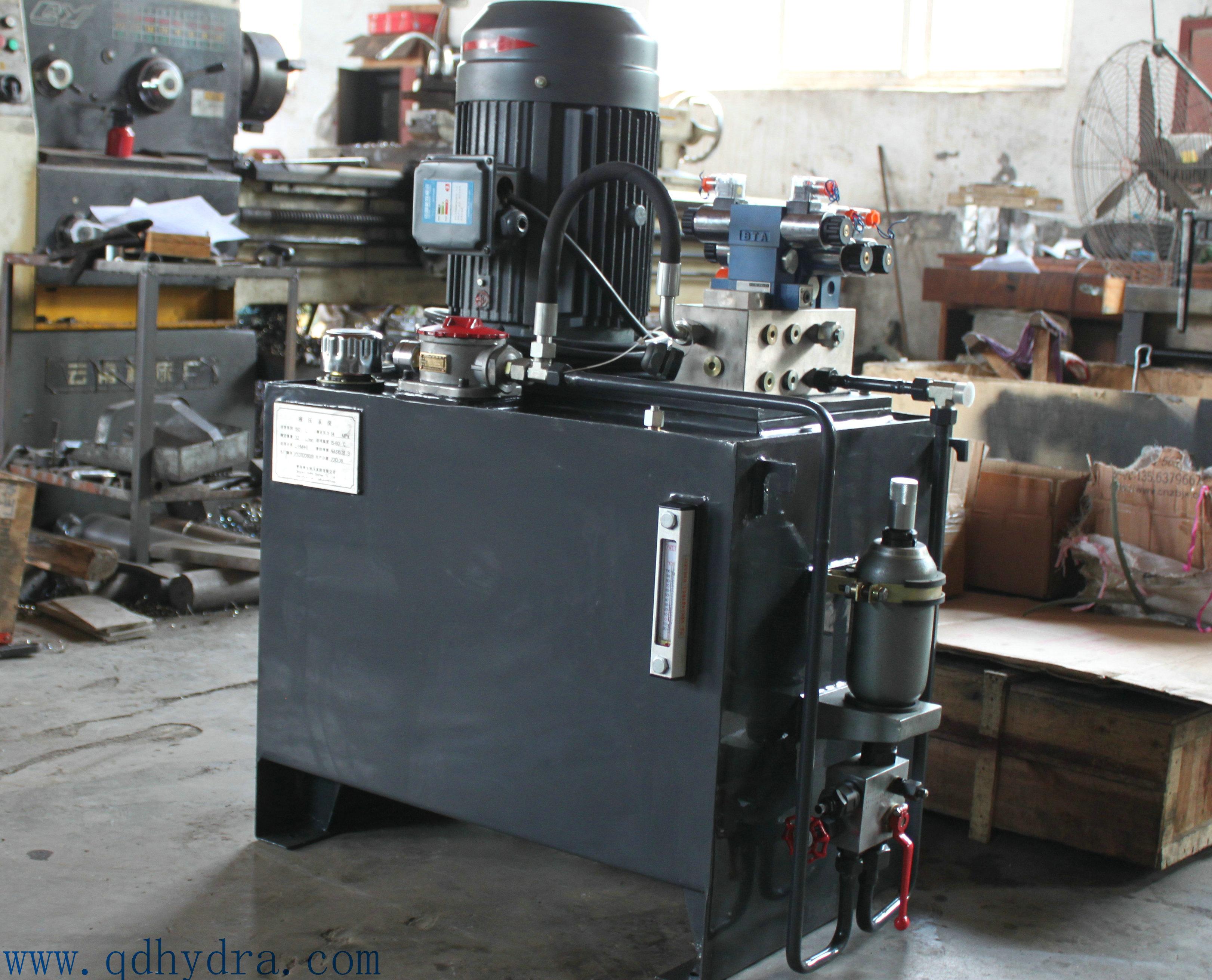 焊接机器人夹紧工装液压系统图片